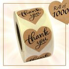 Round Shape Print Kraft Paper Thank You Adhesive Label 1 1000 Stickers Roll
