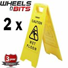 NEW 2x Caution Wet Floor/Cleaning In Progress Warning Signs A Frame Design 24891