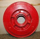 Vintage Large Wood Round Ribbed  Wheel  Foundry Casting Mold  11 3/4