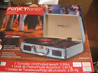 NIB Funkyfonic briefcase turntable blue, built in speakers Retro record player