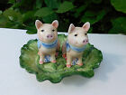 Fitz and Floyd 'French Market' Salt/Pepper with Tray Pigs