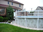 Aboveground Pool Fence Accessory Kit B 3 Sections 24 White Resin Fence