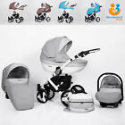 Pram 3in1 Pushchair Car Seat Carrycot Travel System Buggy Newborn From Birth
