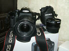 Canon EOS 450D 122 MP Digital SLR Camera with THREE LENSES EF S18 55mm