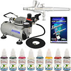 Airbrush Face Paint  Body Art System 8 Color Kit Air Compressor Airbrushing