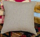 COLONIAL STAR BLACK AND TAN FABRIC CHECKERED PILLOW COVER 16