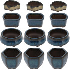 Happy Bonsai 12 Mini Glazed Pots Small Succulent Plant Flower Planters