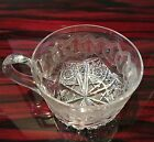 Rare Meriden Alhambra American Brilliant Period Cut Glass Handled Punch Cup