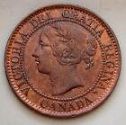 1859 9 Over 8 Province Of Canada Large 1 Cent Old Canadian Victoria Coin