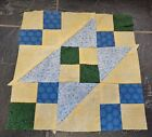 Handmade Quilted Star Block Quilt Top Square 12