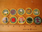 Lot of 10 Vintage Girl Scout Merit Badges Patches