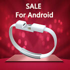 Mini Short Flat Bracelet Micro USB 20 Sync Data Charger Cable for Android Phone