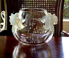 LALIQUE CRYSTAL ORCHID VASE (Orchidee in French) Excellent Condition Signed