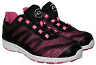 LADIES BLACK/PINK COLOUR LACE UP STEEL TOECAP SAFETY SHOE IN SIZE 8
