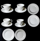 Johnson Brothers Snow White REGENCY 4 Teacups Saucers & 4 Dessert Plates England