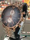 NEW EMPORIO ARMANI AR1721 TWO TONE STAINLESS STEEL CHRONOGRAPH MEN'S WATCH