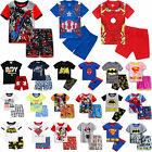 2PCS Kids Boys Short Sleeve T shirt + Shorts Pants Casual Beach Outfits Clothes