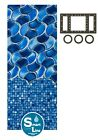 Above Ground 25 Gauge Poseidon Swimming Pool Overlap Liners with Gasket Kit