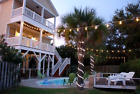 100 Ft Edison Outdoor String Lights Vintage Patio White Wire 50 Clear S14 Bulbs