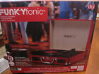 NIB Funkyfonic briefcase turntable red, built in speakers Retro record player