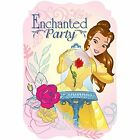 Pack of 8 Beauty  The Beast Belle Birthday Party Post Card Invitation