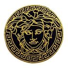 MEDUSA Logo Gold and Black Patch 25in Iron On Patch si