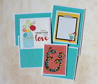 TIED TOGETHER WITH LOVE Premade Scrapbook Page Mat Set SEWN