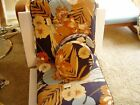 LOT OF TWO VINTAGE 1950'S RATTAN LOUNGE CHAIR CUSHIONS - BEAUTIFUL! WITH PILLOWS