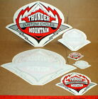 6 Thunder Mountain Custom Cycles Motorcycle Decal stickers lot Harley Davidson