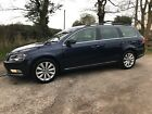 LARGER PHOTOS: 2013 VOLKSWAGEN PASSAT HIGHLINE TDI ESTATE BLUEMOTION SHADOW BLUE FULL HISTORY
