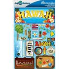 Reminisce Jet Setters N HAWAII State Dimensional Scrapbook Stickers