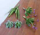 Artificial Mini Purple Flower With Green Succulents Plants set of 5
