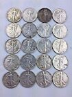 LOT OF 20 Coins 10 Face Value 90 Silver Walking Liberty Half Dollar 50c 228 4