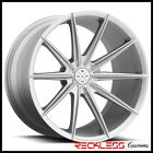 22 BLAQUE DIAMOND BD11 DEEP CONCAVE SILVER WHEELS RIMS FITS TESLA MODEL S
