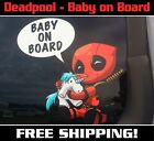 Deadpool Baby On Board Decal Sticker
