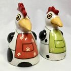 Palmy Ceramic Chicken Salt and Pepper Shakers, New