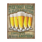 Believe Ill Have Another Beer Funny Tin Sign Bar Game Room Decor 125 x 16