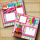 BIRTHDAY GIRL 2 pre made scrapbook pages paper piecing layout digiscrap A0100