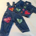 Wonderful Denim Outfit Pageant Wear By MARSHA EUC 12 Mo Overalls And Jacket
