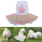 Pet Puppy Dog Birthday Cake Dress Clothes Doggie Lace Tutu Skirt Chihuahua New