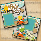 BEACH vacation 2 premade scrapbook pages layout scrapbooking BY DIGISCRAP A0089
