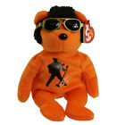 TY Beanie Baby - BEANIE HOUSE ROCK the Elvis Bear (8.5 inch) - MWMTs Stuffed Toy