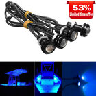 4x Blue LED Boat Light Waterproof 12v Outrigger Spreader Transom Marine Dock
