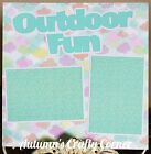 OUTDOOR FUN Basic Premade Scrapbook Page 12x12 Layout for Album ACC 889