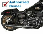Black Thunderheader 2 into 1 2 1 Full Exhaust Pipe Header System 12+ Harley Dyna