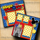 MAGIC THEME PARK 2 premade scrapbook pages paper VACATION layout DIGISCRAP