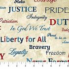 Stars and Stripes Patriotic Words Cotton Fabric by Northcott