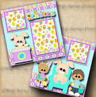 EASTER BUNNYS LAP 2 premade scrapbook pages paper piecing layout DIGISCRAP