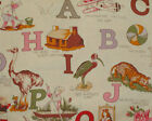 American Folk  Fabric Alphabet Soup Fabric 34 Remnant OOP VHTF