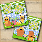 ON THE HUNT EASTER EGG 2 premade scrapbook pages paper piecing layout digiscrap